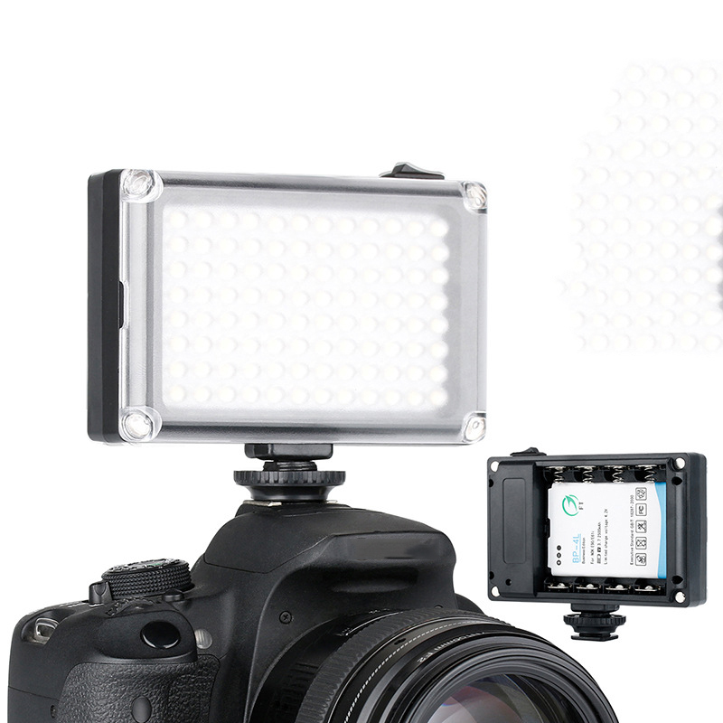 Black Rechargable LED Video Light