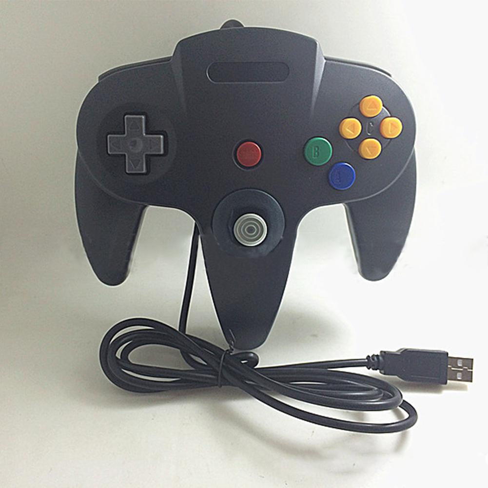 N64 USB N64 ABS Gamepad Controller Joystick PC Computer Game Handle black