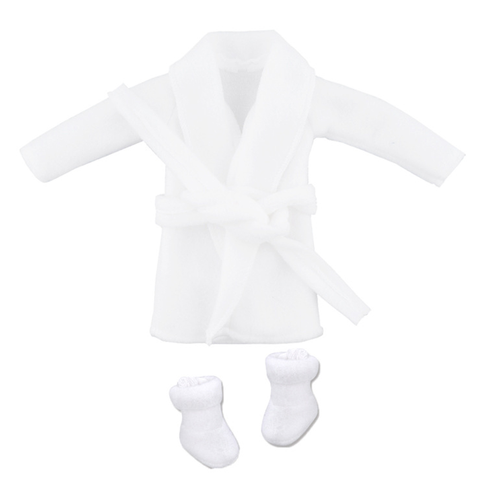 1 Set Doll  Clothes Fashion Christmas Elf Series Nightgown Pettiskirt Suit (without Dolls) Nightgown + white shoes