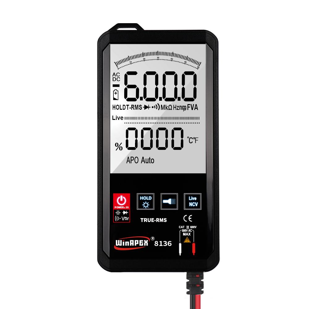 Mustool Mt111 Touch Screen Digital  Multimeter 6000 Counts Digital Profesional Multimeter Tester Ac Dc Voltmeter Analogue Tester 8136