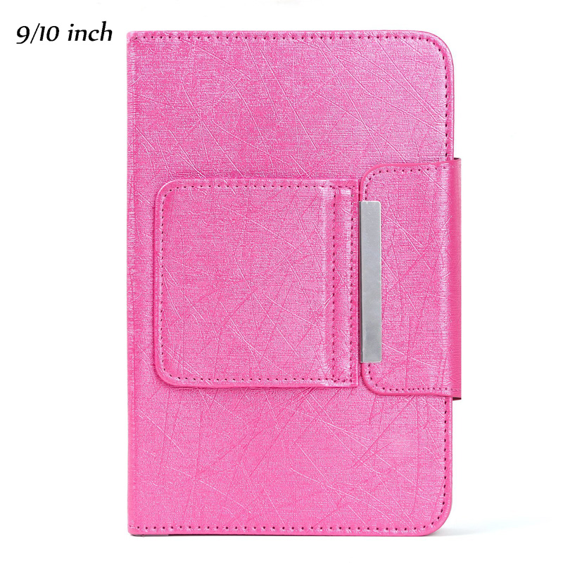Wireless Bluetooth Keyboard For Tablet PU Leather Case Stand Cover +OTG+pen For Pad 7 8 Inch 9 10 Inch  Pink_9/10 inch