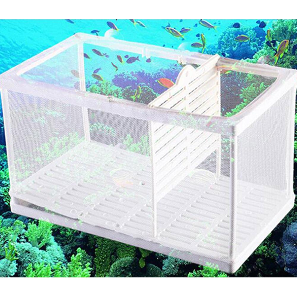 Aquarium Fish Tank Separation Net Breeding Incubator Isolation Net with Sucker and Partition large