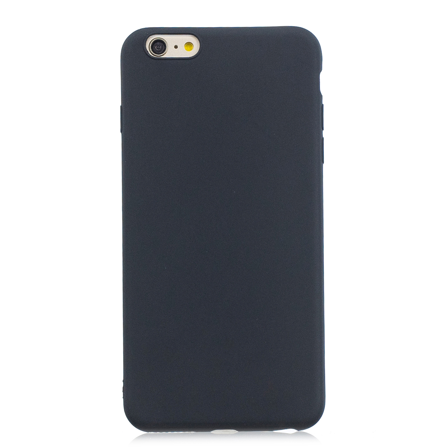 for iPhone 6/6S Lovely Candy Color Matte TPU Anti-scratch Non-slip Protective Cover Back Case black