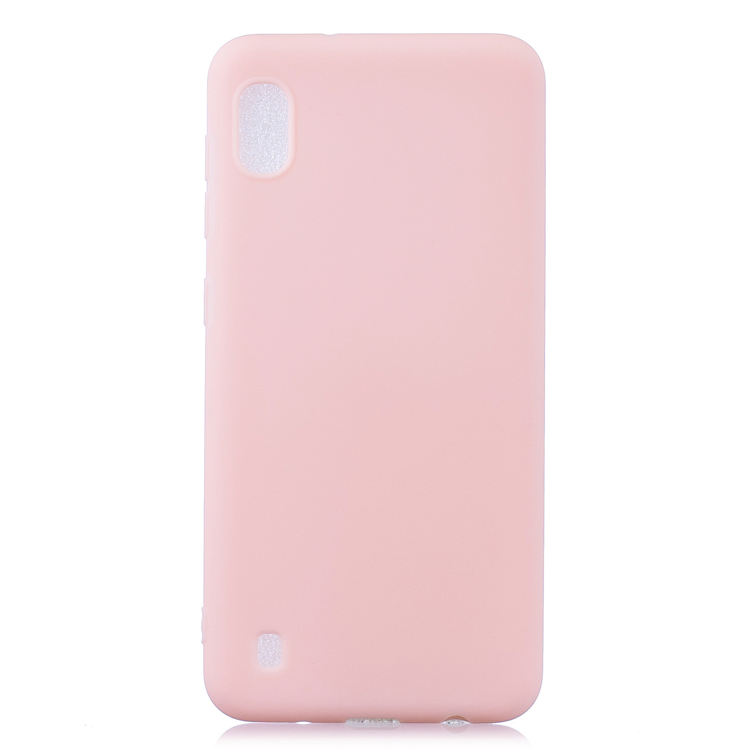 For Samsung A10 Lovely Candy Color Matte TPU Anti-scratch Non-slip Protective Cover Back Case Light pink