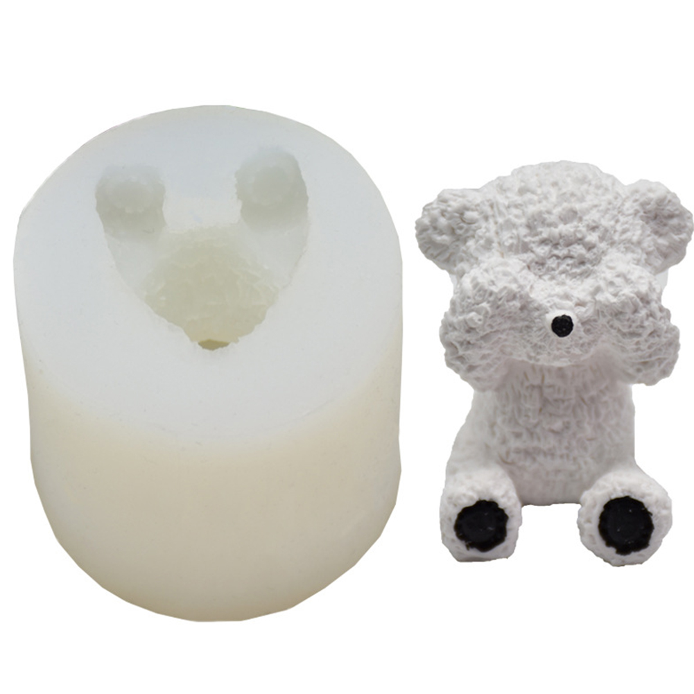 Home Kitchen DIY Mold Three-dimensional Tailed Bear Silicone Silicone Fondant Mold Cake Decorating Mold 135g