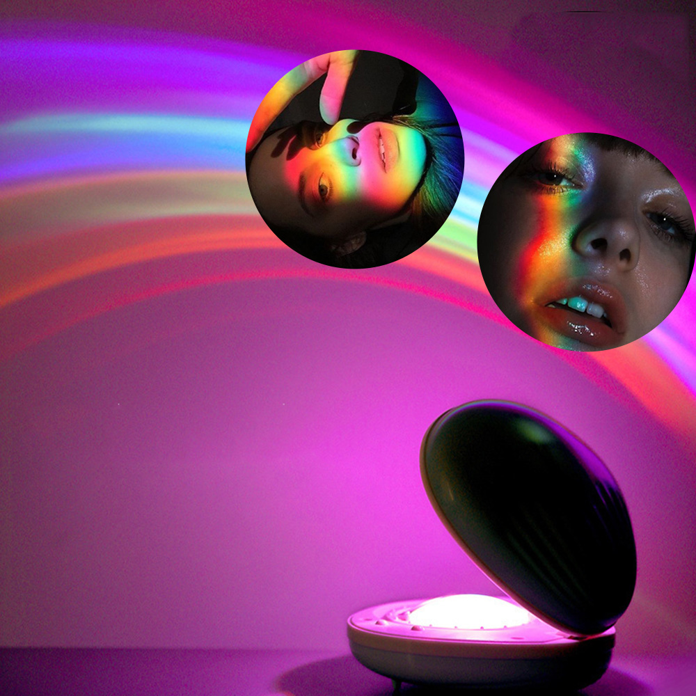 LED Projection Light Atmosphere Lamp Night Light Projector Kids Gift Bedroom Decor Photography Props Colorful