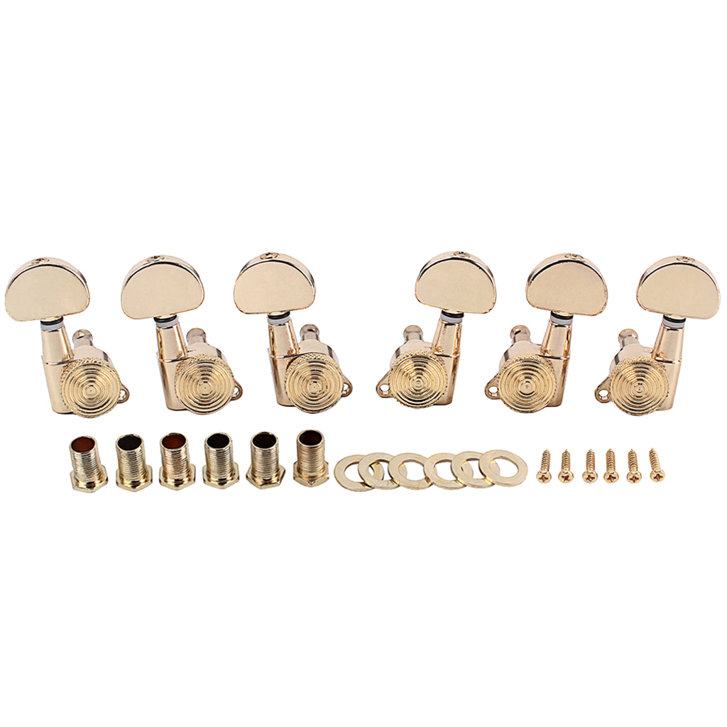 3R3L String Tuning Pegs Tuners Machine Heads for Acoustic Electric Guitar  Gold