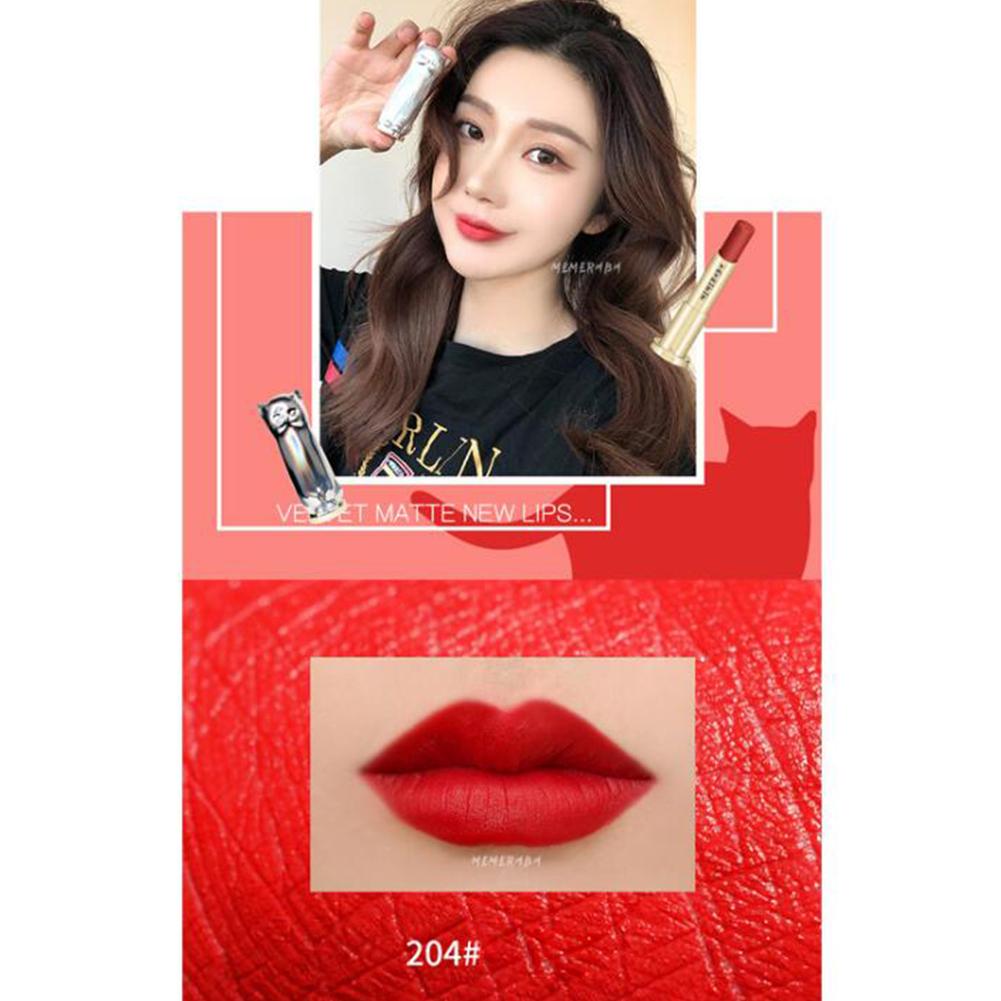 Cute Cat Shaped Matte Lipstick Long Lasting Lipsticks Velvet Waterproof Lipstick  normal_4#