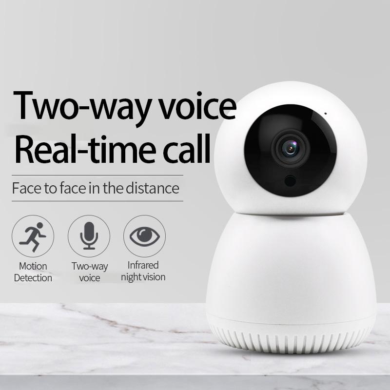 Surveillance Camera Wireless WIFI HD Night Vision Smart Small Monitor Mobile Phone Remote Network Home Monitoring 1#_EU Plug