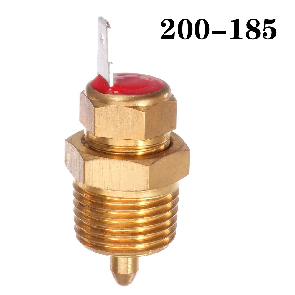Fan Thermostat Temperature Switch Electric Engine Cooling Fan Thermostat Temp Switch 200-185 + cover