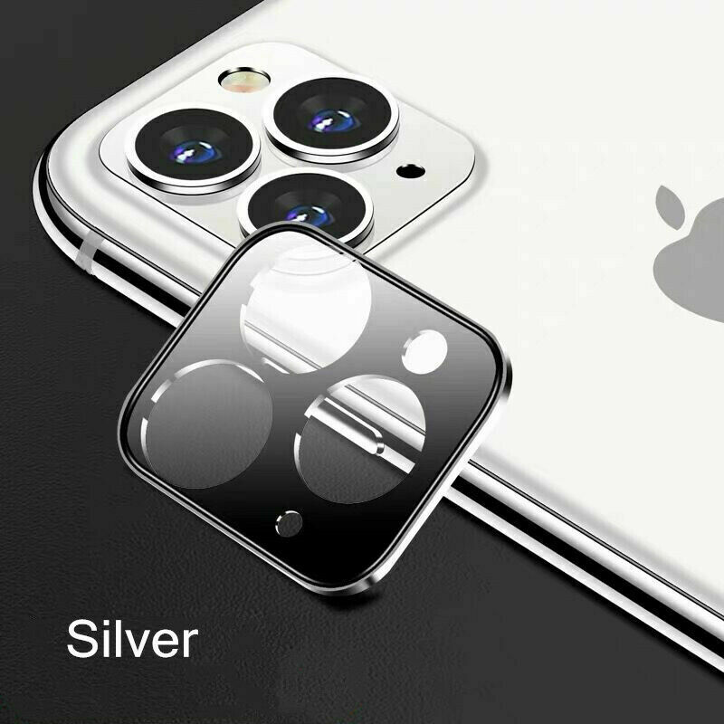 Phone Screen Film For iPhone 11/11 Pro/11 Pro Max Full Cover Tempered Glass Camera Lens Screen Protector Silver