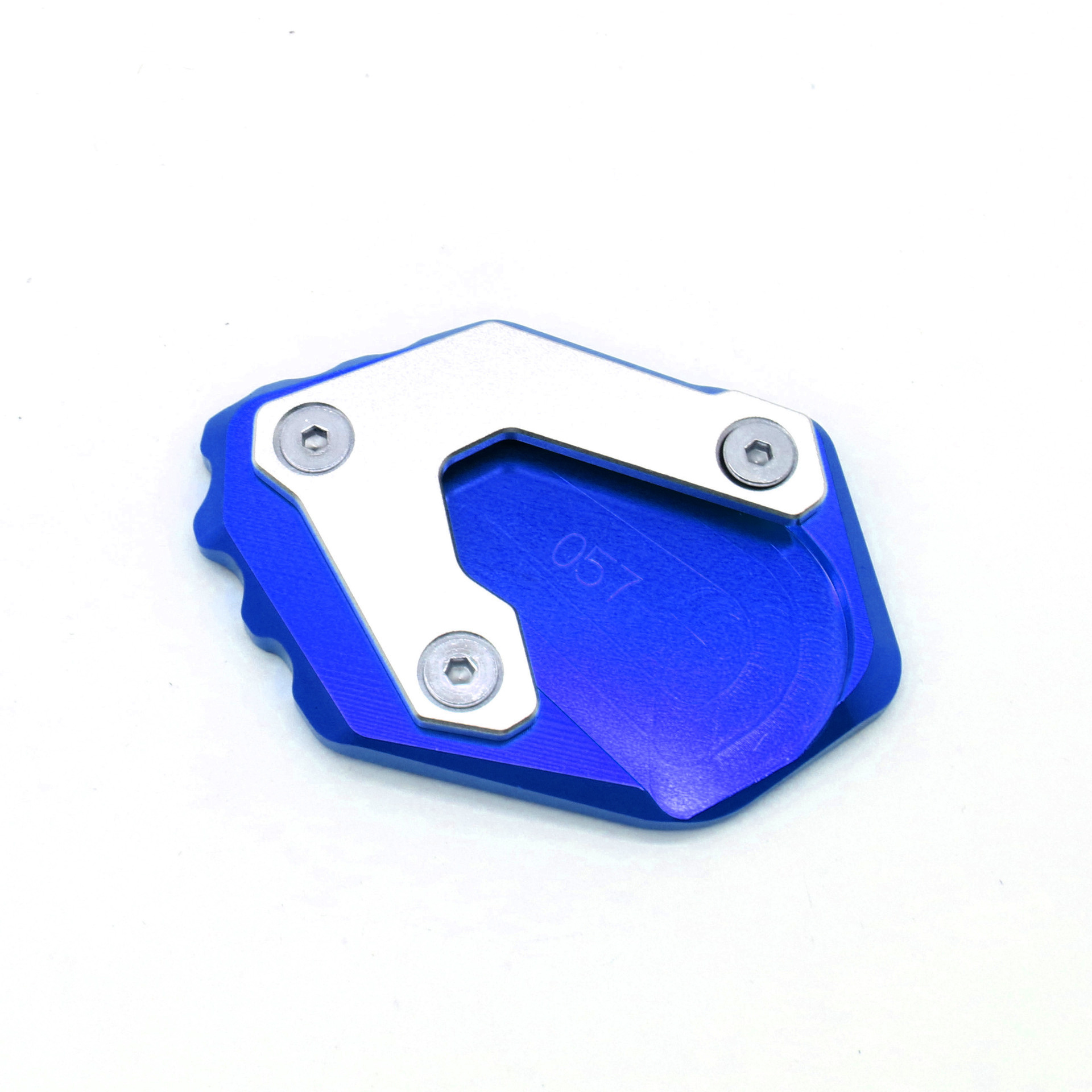 Motorcycle CNC Kickstand Foot Side Stand Extension Pad for BMW R1200GS LC 14-18 R1250GS blue