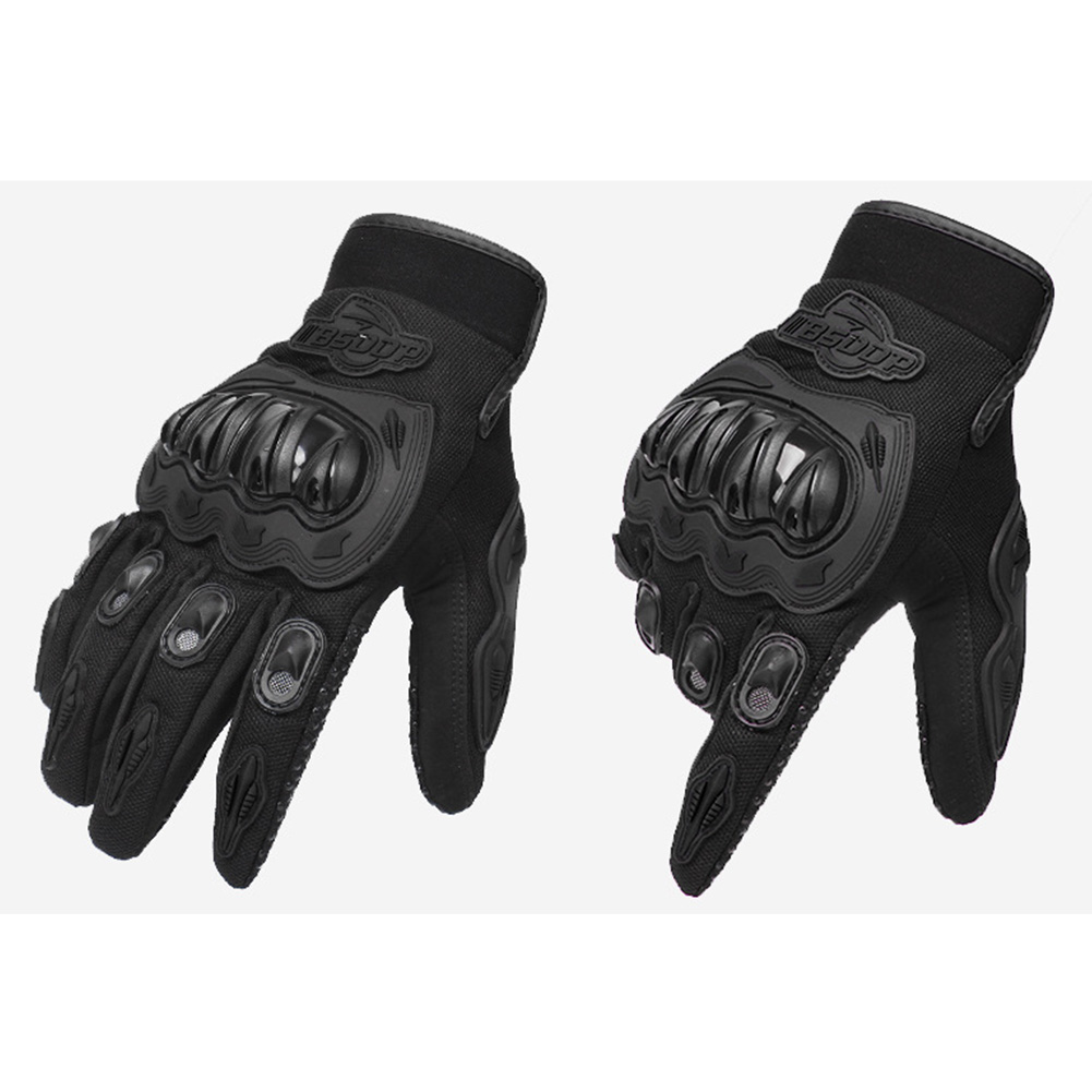 Outdoor Anti-slip Breathable Wear-resistant Safety Protection Full Finger Gloves for Riding Skiing Black XL