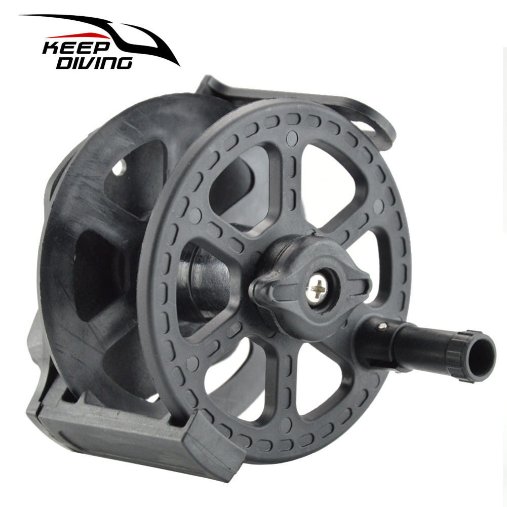 Speargun Reel Split Type Underwater Spear Spool For Spearfishing black