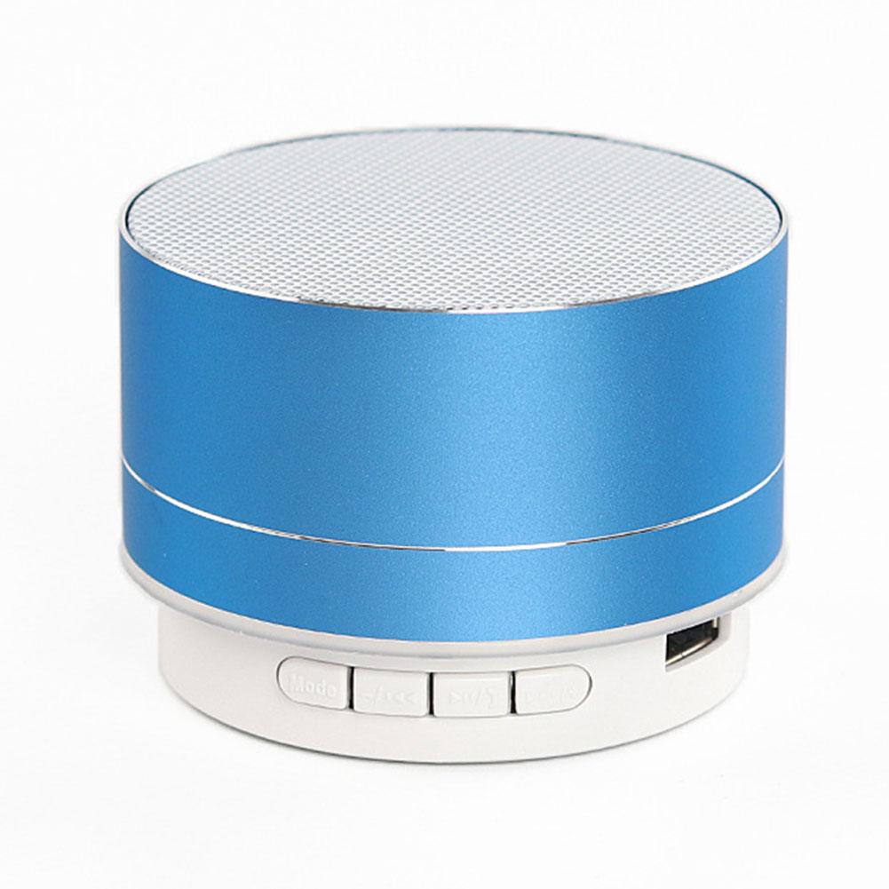 Wireless Bluetooth Speaker Metal Mini Portable Sound with Mic TF card FM radio AUX MP3 Music Play Loudspeaker Blue