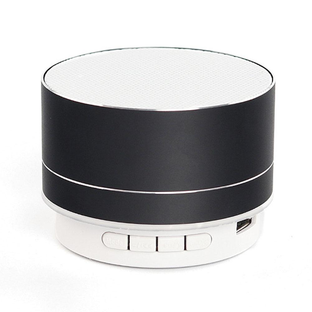 Wireless Bluetooth Speaker Metal Mini Portable Sound with Mic TF card FM radio AUX MP3 Music Play Loudspeaker Black