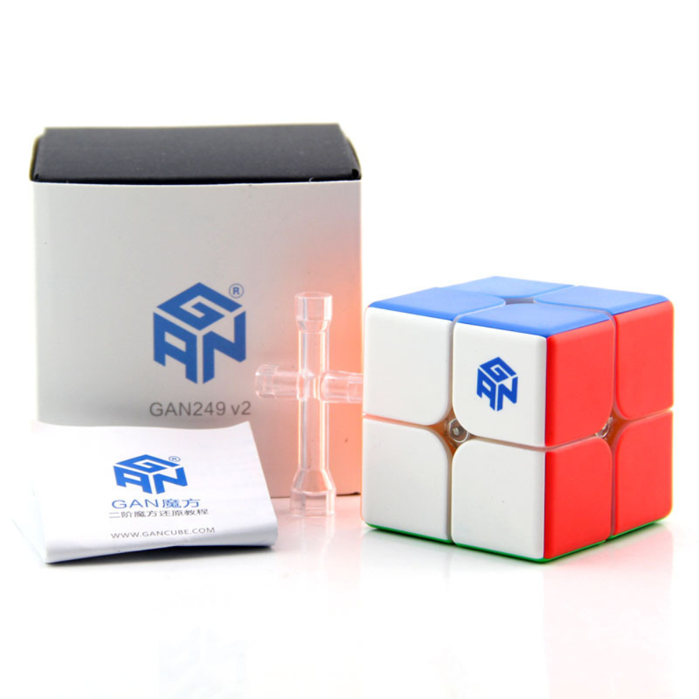 Gan249V2 2X2 Magic Cube Puzzle Learning Education Toys for Kids Boys Girls Patch