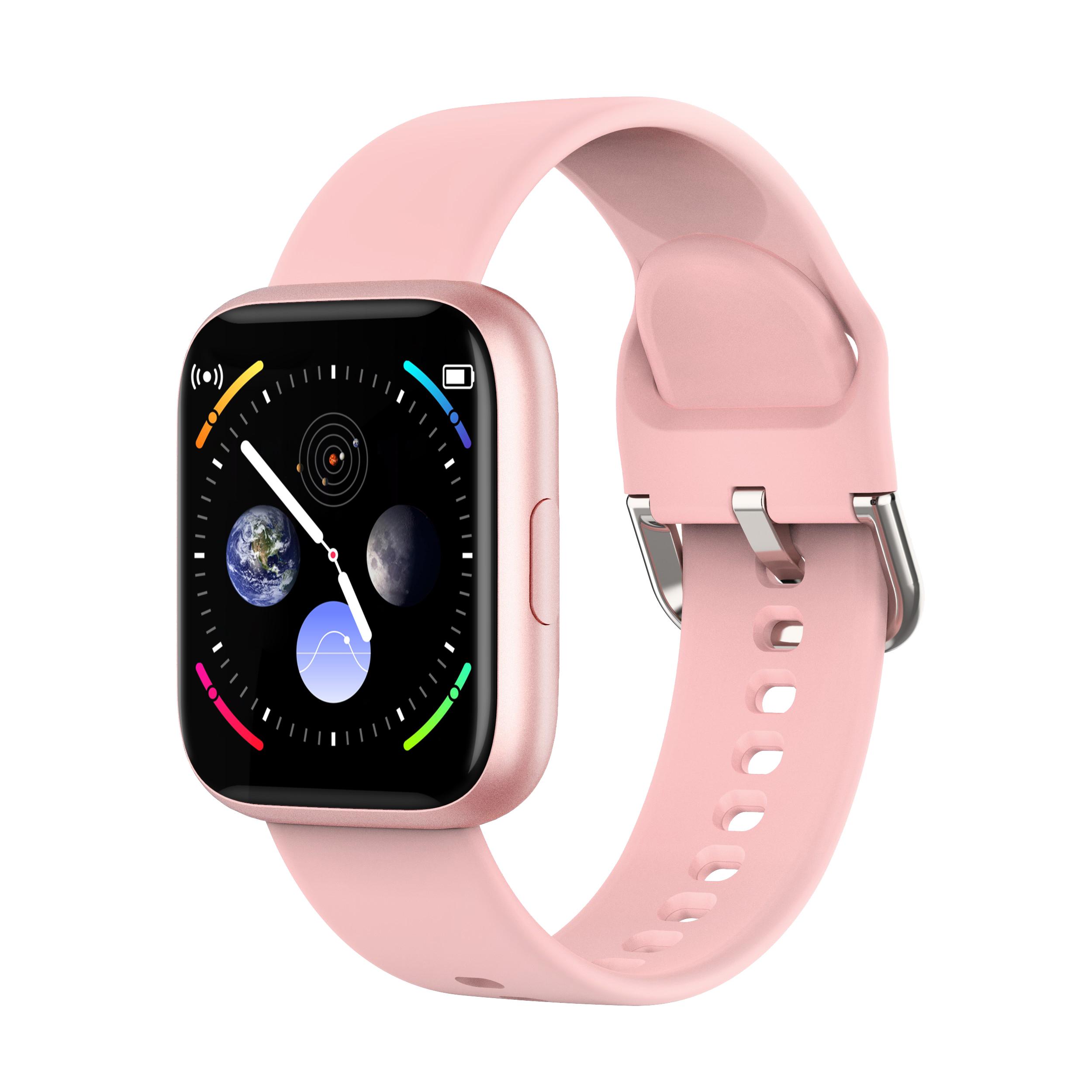 P6 Smart Bracelet Heart Rate Blood Pressure Health Waterproof Smart Watch Bluetooth Watch Wristband Fitness Tracker Pink