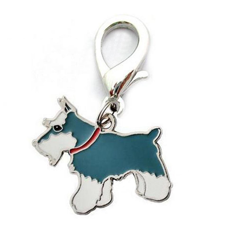 Metal Dog Key Chain Lovely Puppy Pendant Keyring Keychain Woman Bag Charm Gift Schnauzer_2.5cm