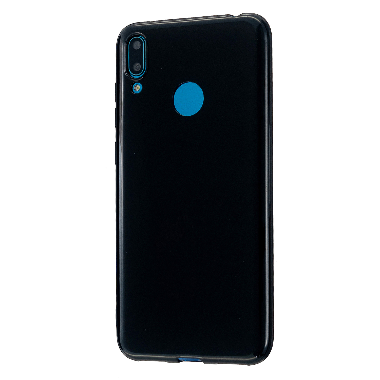 For HUAWEI Y6/Y7 Prime 2019 Glossy TPU Phone Case Mobile Phone Soft Cover Full Body Protection Bright black
