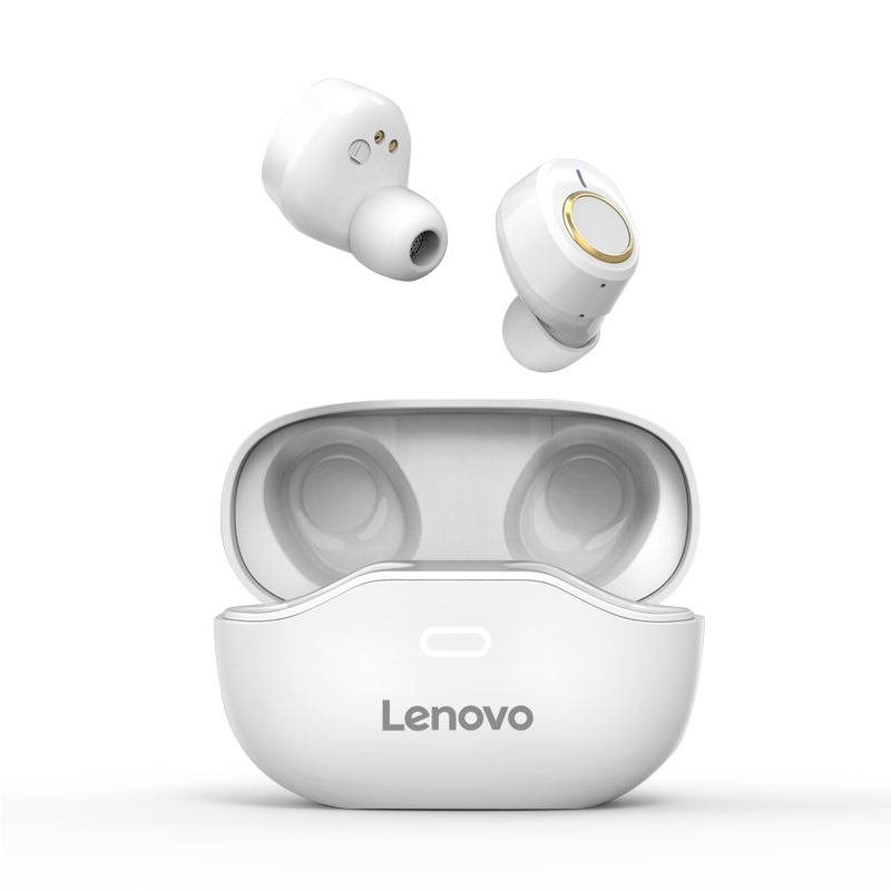 Original LENOVO X18 Bluetooth Headset Wireless Sports Ipx4 Light Touch Button Headset Earplugs Bluetooth Earphone With Charging Box white