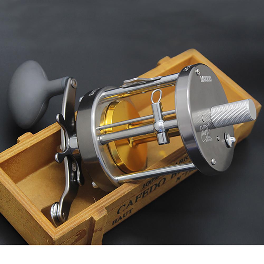 M9000R Metal Fishing Drum Reel Baitcasting Reel Fishing Reel for Sea Saltwater Big Fish Fishing Right hand