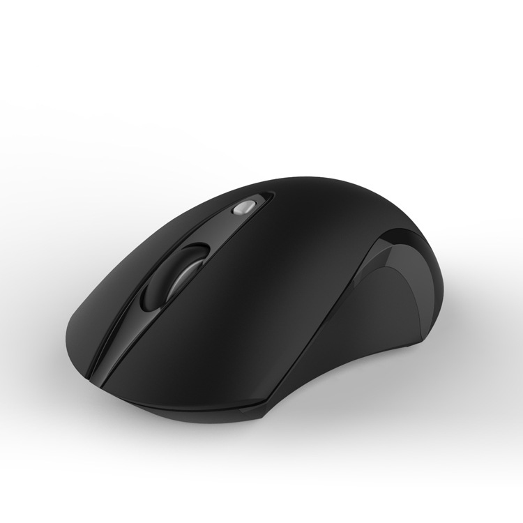 Silent Wireless Mouse Rubber Black