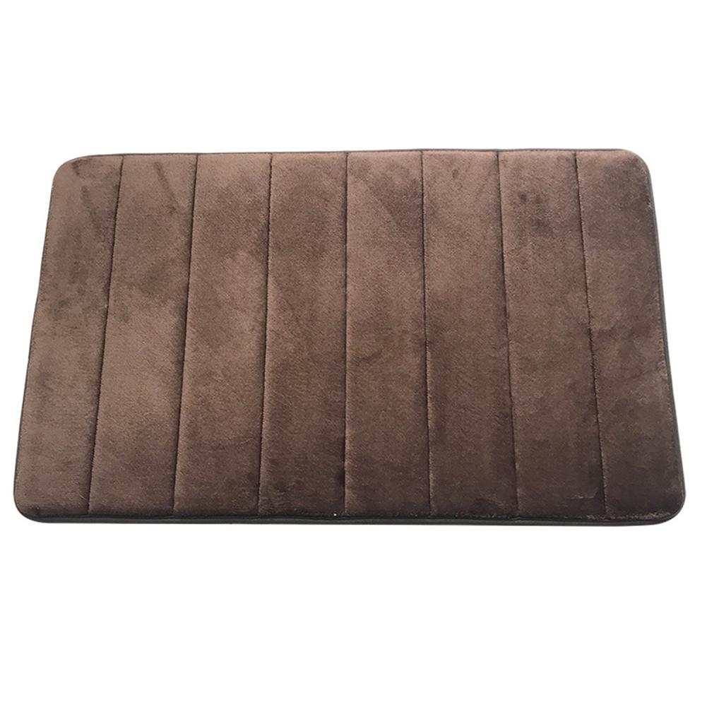 [US Direct] 40*60cm Bathroom  Carpet Memory Sponge Floor Cover For Household Shower Room coffee