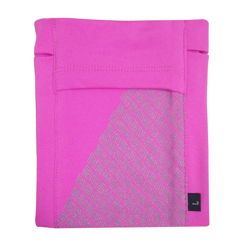 Running Mobile Phone Arm Bag Sports Arm Pocket Fitness Elastic Running Close-fitting Wrist Bag Rose red