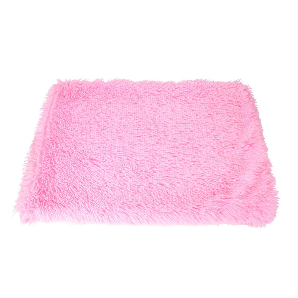 Pet Autumn Winter Dog Nest Warm Mattress Cat Sleeping Pad Long Blanket rose Red_L-105*90