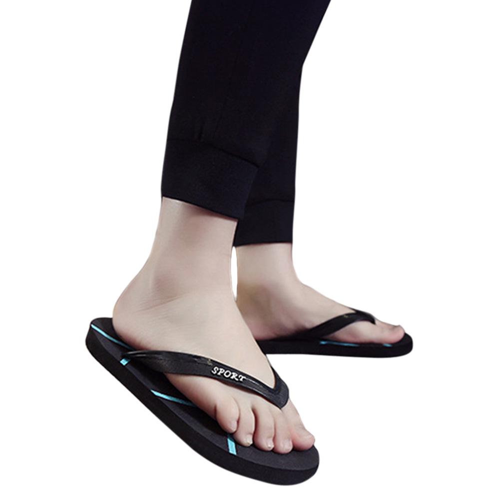 Men Fashion Anti-slip Casual Flat Slippers for Beach Home Bathroom
