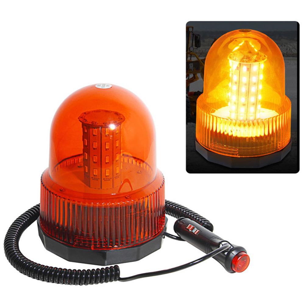 Car LED Strobe Light 40LED 20W Vehicle Police Led Strobe Rotating Warning Light Led Flashing Emergency Beacon Lamp yellow