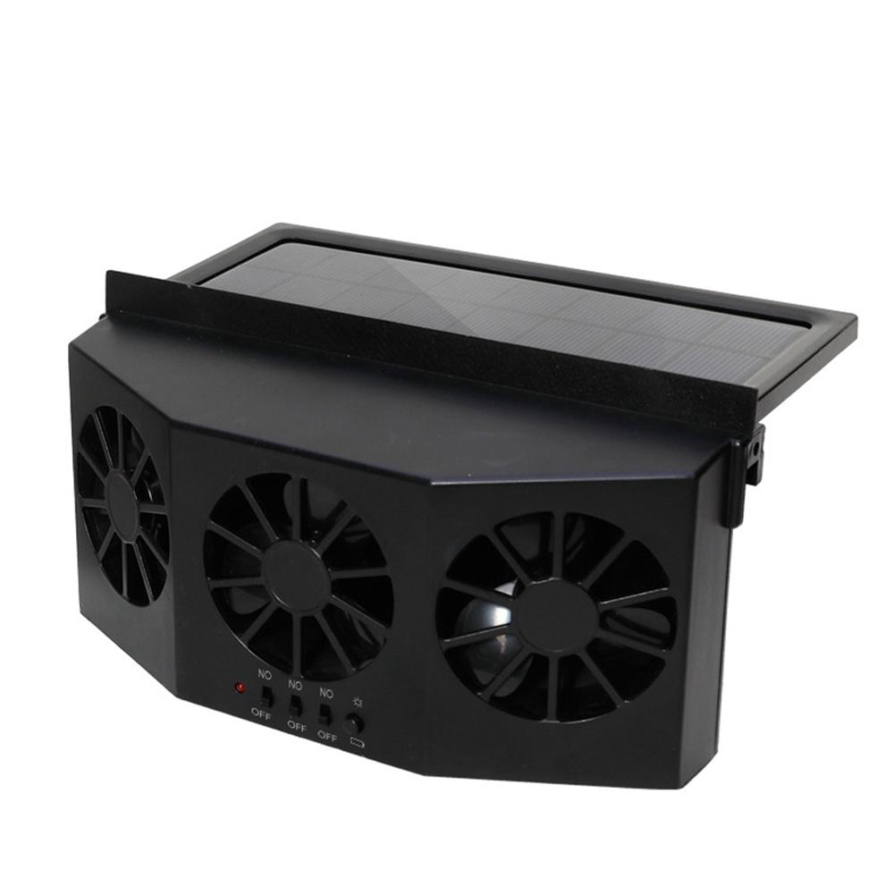 Car Ventilator 3 Cooler Fans Solar-powered Cooling Vent Exhaust Portable Safe Auto Fan