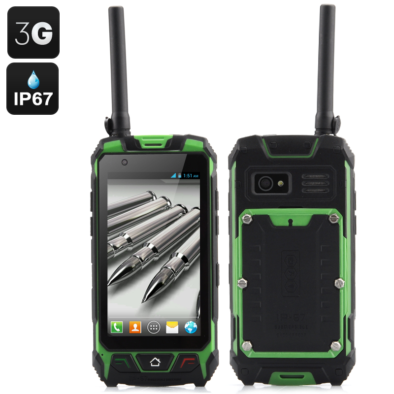 4.5 Inch Rugged Smartphone (Green)