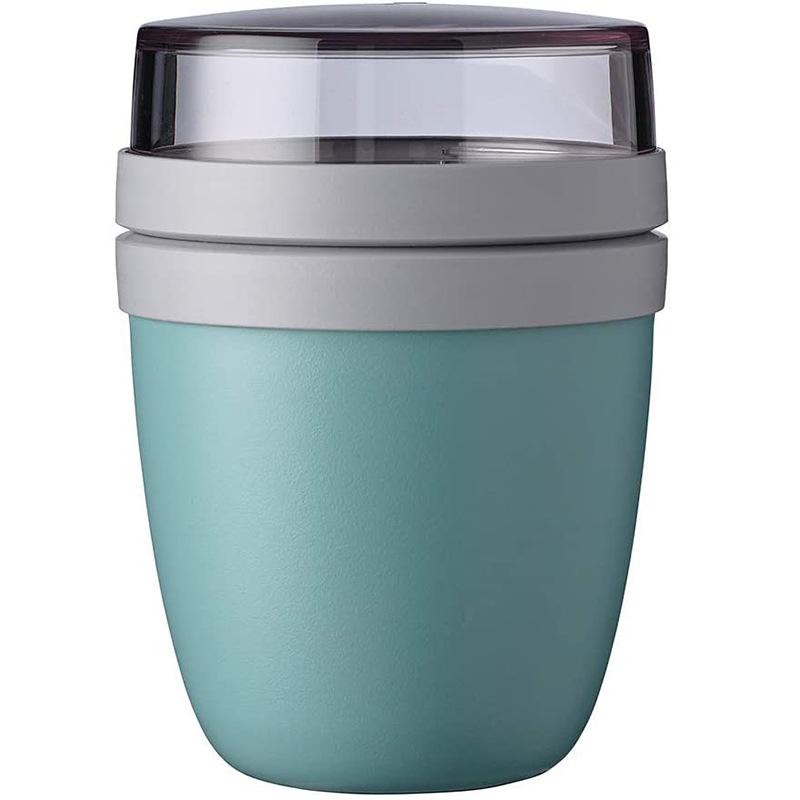 700ml Portable Travel Preservation Bowl Cup For Yogurt Nut Dessert Preservation  Cup Tableware light blue