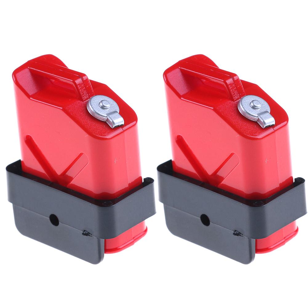 1:10 Scale Mini Fuel Tank RC Rock Crawler Accessory for Axial Wraith SCX10 90046 RC4WD D90 TRX4P 2PCS/Set  red