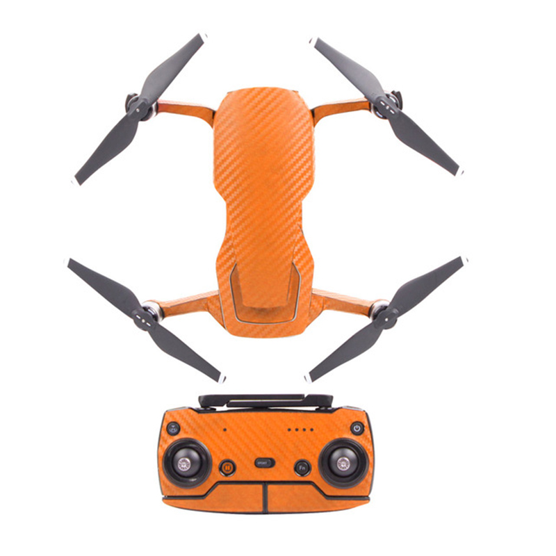Sunnylife Decals for DJI Mavic Air Waterproof PVC Carbon Grain Graphic Body+RC+3 Battery Stickers Skin  yellow