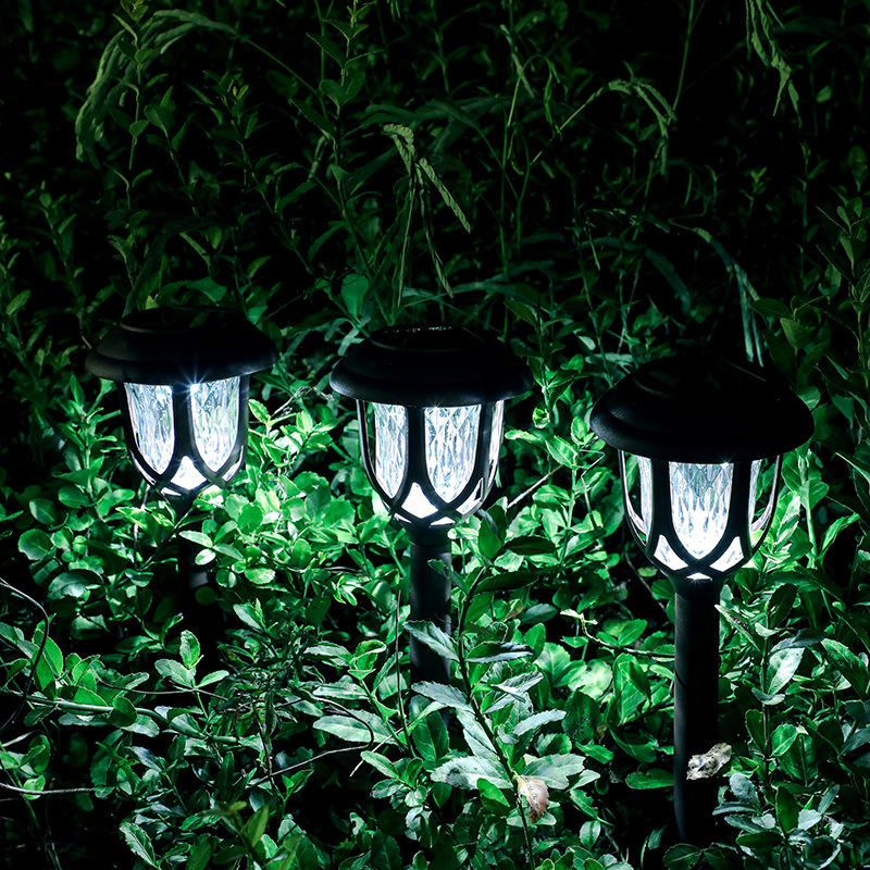10Pcs LED Light Solar Powered Outdoor Waterproof Coffee Color Lawn Lamp Courtyard Decor White light