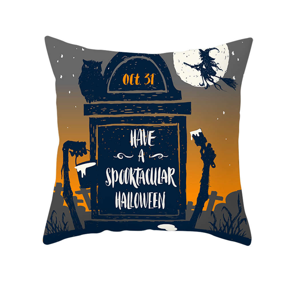 Halloween Series Orange Geometric Pillow Cover Home Party Decoration TPR184-29_45*45cm (without pillow)