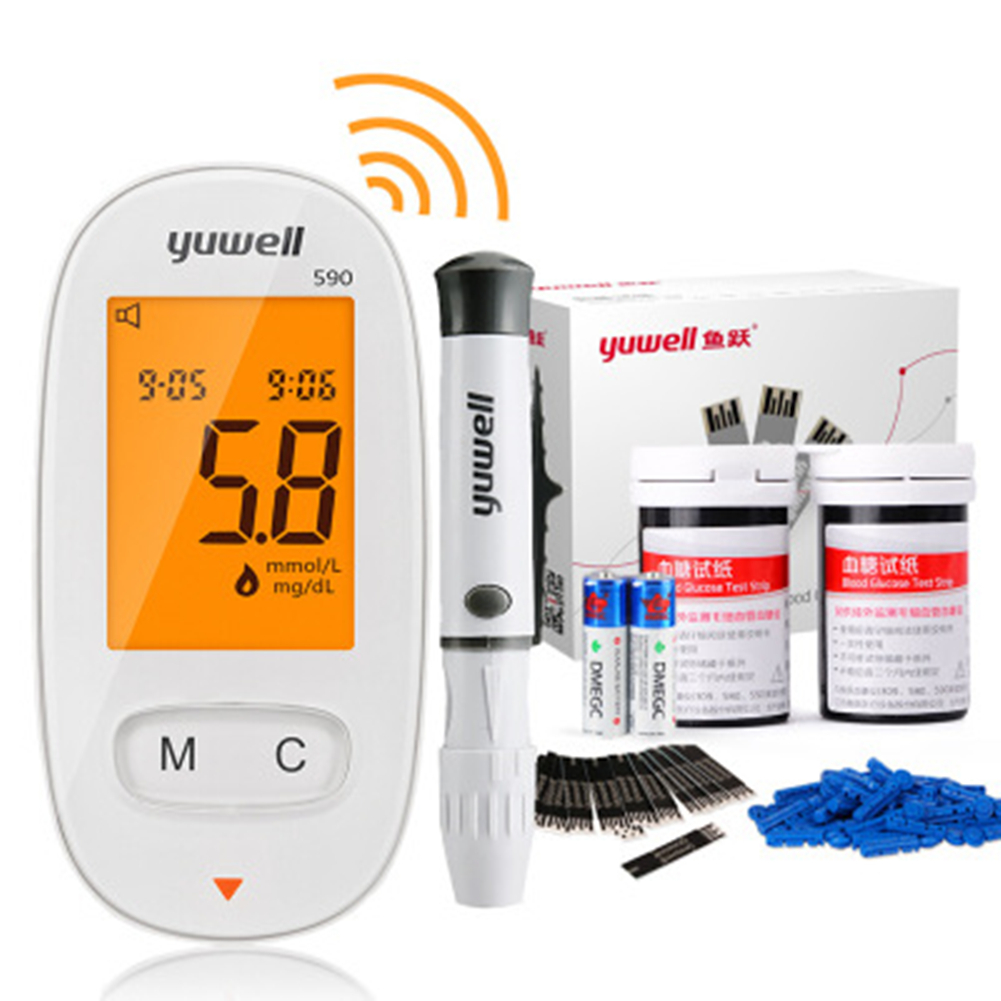 Blood Glucose Meters Needles Set Sugar Monitor Collect Blood Glucometer Health Care 50 test strips + needle (without tester)