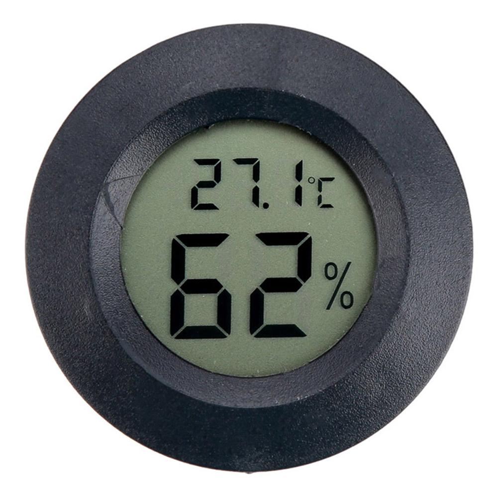 Mini LCD Digital Thermometer Hygrometer Humidity Temperature Measurement Tool black
