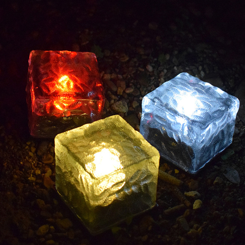 1PC Outdoor Waterproof Solar LED Glass Lawn Light for Courtyard Decoration Colorful