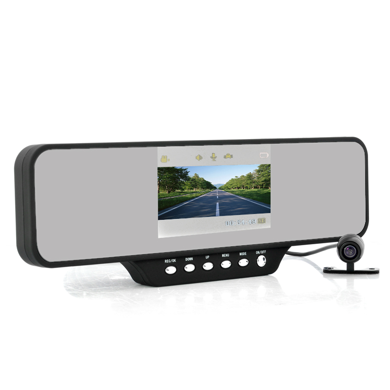 Car Mirror DVR w/ 4.3 Inch Screen + Camera