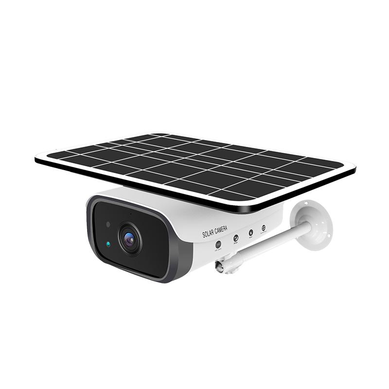 Outdoor Video Surveillance Camera Solar Battery Power Wireless WIFI 1080P Intelligent Security white