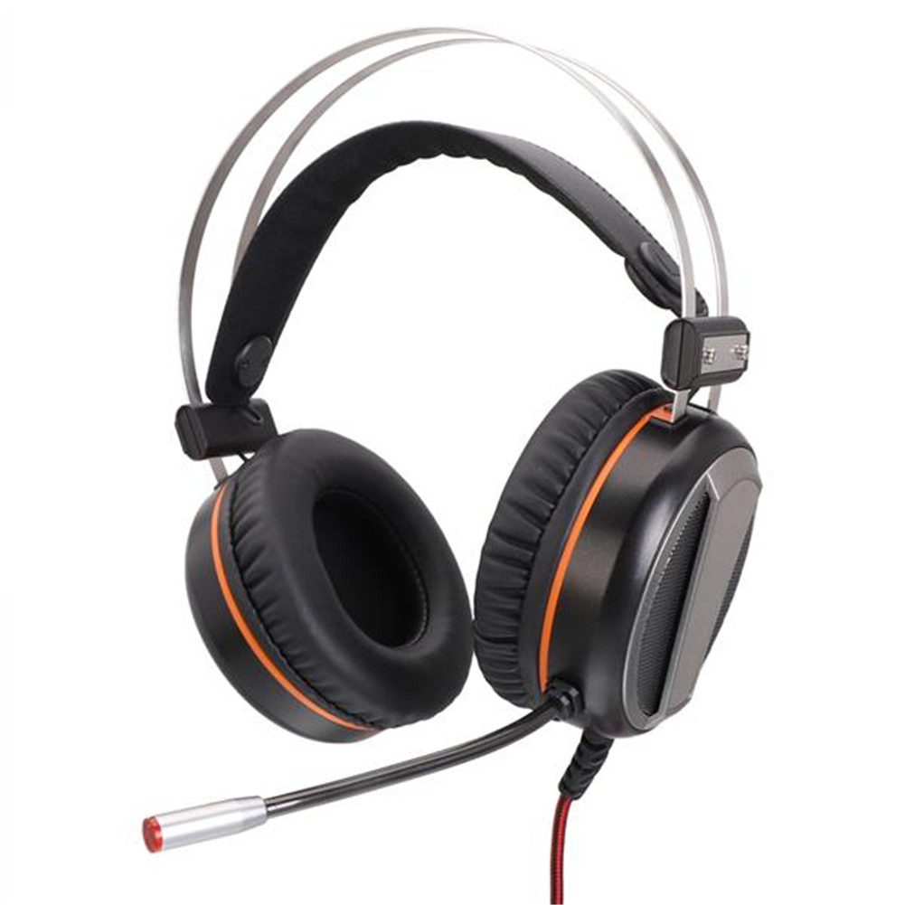 Gaming Headset G601 Virtual 7.1 RGB Colorful Lights Wire Handsets Earphones Silver gray