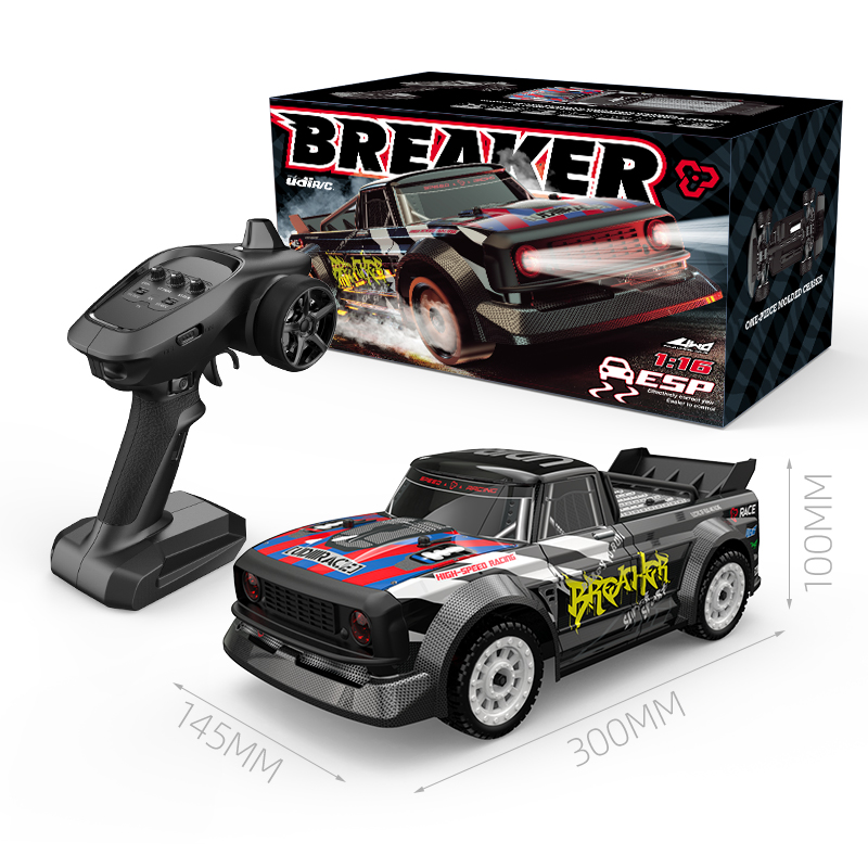 UDIRC 1601 RTR RC Car 1/12 2.4G 4WD 30km/h LED Light Drift On-Road Proportional Control Vehicles Model Toy For Boy Gift as shown