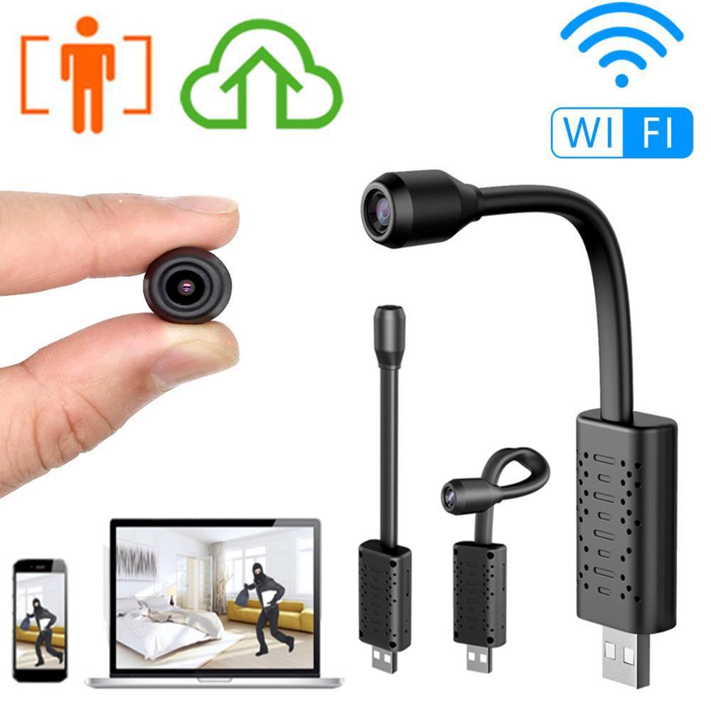 V380 Usb Mini Wifi Camera Home Surveillance Ip Camera 1080p Motion Detection Micro Audio Dvr Recorder Wireless camera+64G