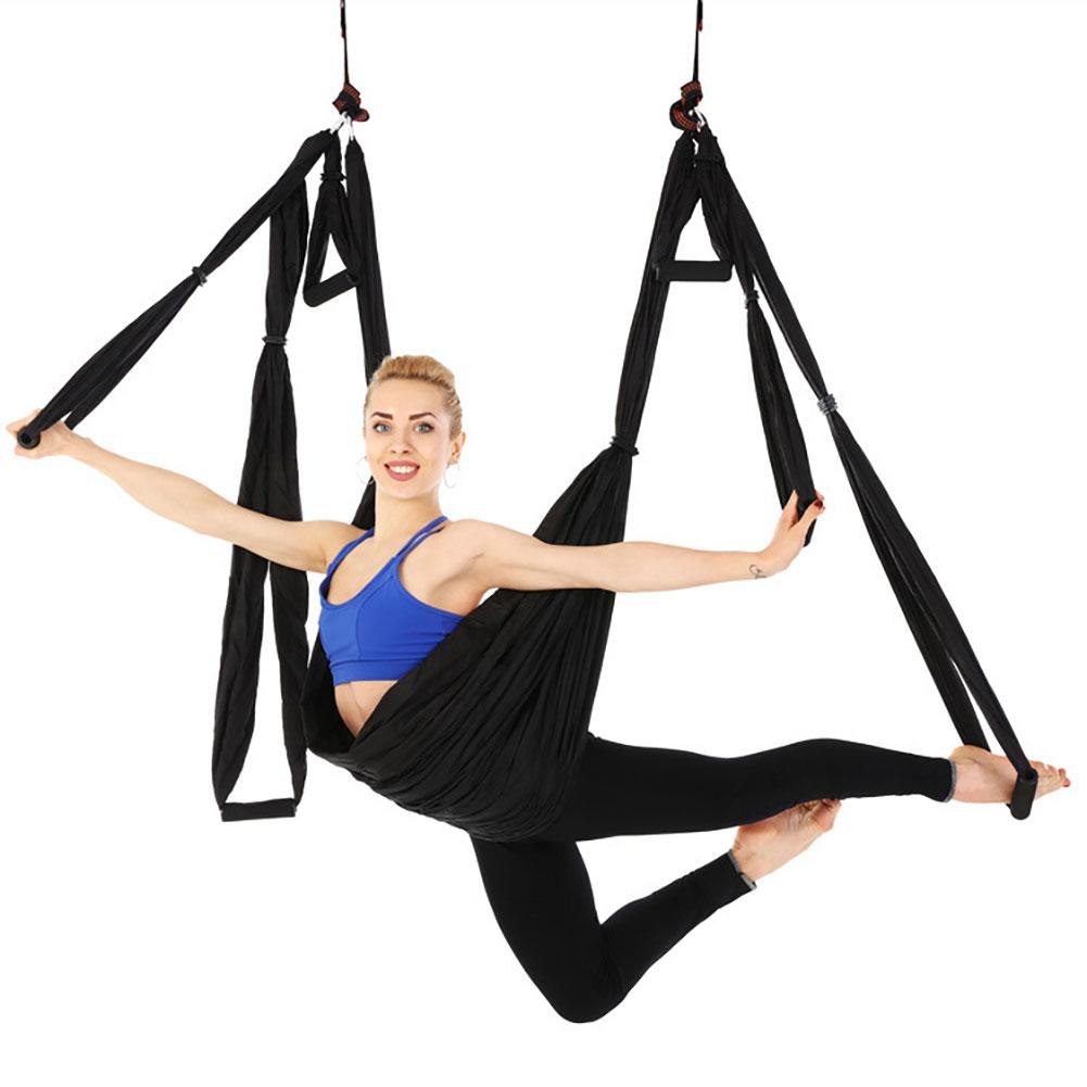 Yoga Swing Set Yoga Sling Inversion Tool for Professional Beginners Pink (standard single hammock)