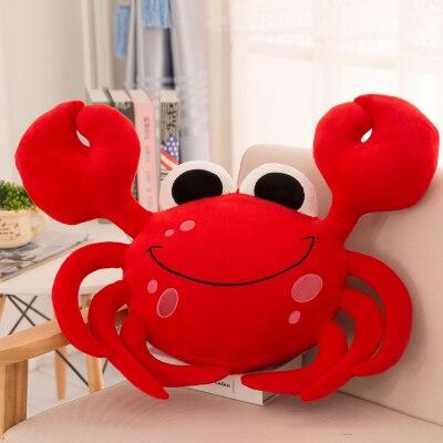 ! new style plush toy cartoon big eyes smiling crab cushion pillow home decoration creative birthday gift 1pc