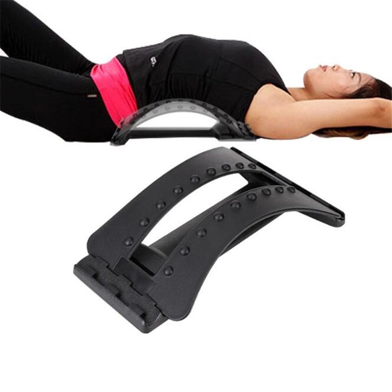 Massage Magic Stretcher Fitness Equipment Stretch Relax Mate Stretcher Lumbar Support Spine Pain Relief  lumbar appliance_free size